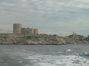 """Château d'If au large de Marseille rendu célèbre par Alexandre Dumas et """"Le Comte de Monte-Christo"""""""